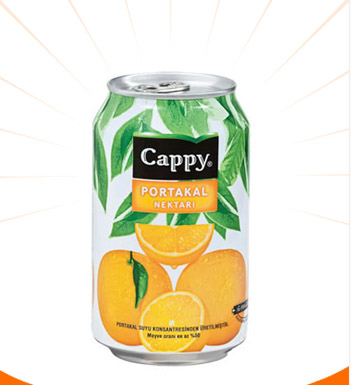 Cappy Portakal 330 Ml